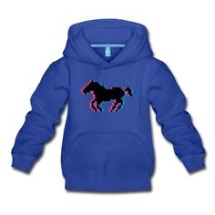 Pixel cheval poney équitation Sweats Enfants