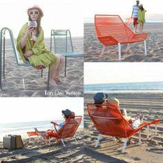 Ilan Dei venice. Mobiliario con cuerdas diversos materiales. String Furniture. http://knittingandcrocheting-club.blogspot.com.es/2013/07/thread-art-string-art-outdoor.html