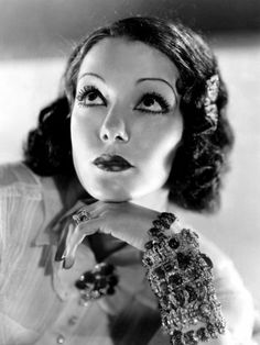 Lupe Vélez (1908 –1944) was a Mexican film actress. Vélez began her career in Mexico as a dancer, before moving to the U.S. where she worked in vaudeville.   Vélez soon entered films, making her first appearance in 1924. By the end of the decade she had progressed to leading roles. With the advent of talking pictures Vélez acted in comedies.Vélez was one of the first Mexican actresses to succeed in Hollywood. The others are Dolores del Río, Katy Jurado, Salma Hayek (Wikipedia)