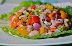 Salada de Feijão Branco ~ Veganana