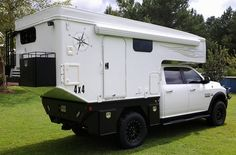 Pop-Up, Slide-Out truck camper by Phoenix Custom Campers on a flatbed truck, http://www.truckcampermagazine.com/news/phoenix-flatbed-pops-up-and-slides-out