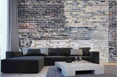Vieux Mur De Briques Multicolores | Achetez En Ligne Des Murales En Papier  Peint Décoratives