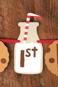 Milk and Cookies theme for a birthday - so cute!