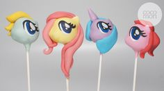 My little pony cake pops for a lucky birthday girl!