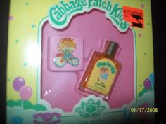 Cabbage Patch Kids Perfume. We got this and the key chain for Christmas one year!