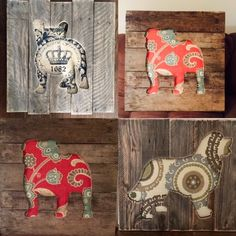 Reclaimed Wood And Fabric Pet Wall Art by BaneDogDesigns on Etsy https://www.etsy.com/listing/267384064/reclaimed-wood-and-fabric-pet-wall-art