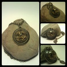 Handcrafted, one of a kind, 3-D charm necklace by Mayoulee Accessories in bronze $15