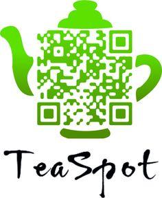 QR Code artistico per accedere alla pagina Facebook del TeaSpot Cafe.Ceainaria TeaSpot Sibiu