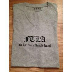 FTLA Apparel Men's/Unisex Athletic Grey V-Neck Jersey Short Sleeve Tee - Signature FTLA Apparel Logo