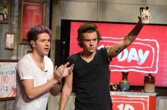 Niall and Harry today