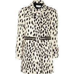 Sonia by Sonia Rykiel Dalmatian-print cotton-twill jacket ($295) ❤ liked on Polyvore