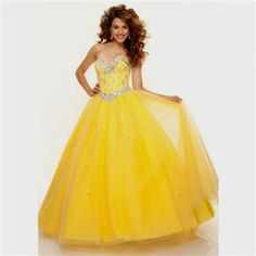 Cool yellow ball gown prom dresses 2017-2018