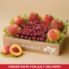 Our Classic Summer Fruit Duo has two of our signature fresh summer fruits in one perfect gift. Cherry-Oh!® Cherries and Oregold® Peaches are a great gift to send to all your friends and family.