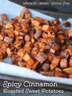 Spicy Cinnamon Roasted Sweet Potatoes — Maria Makes | Food & DIY Blog, #whole30 #paleo