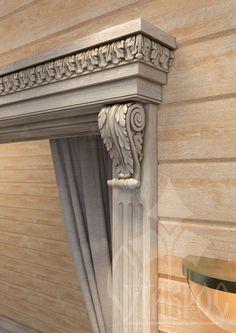 Резной декор из дуба в оформлении дверного проема