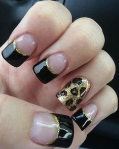The cheetah nails could be painted in variety of colors and designs. Check out the collection of cute nail art design inspired exotic fashion style. Cheetah Nail Art, Cheetah Nail Designs, French Tip Nail Designs, Leopard Print Nails, Cute Nail Art Designs, Acrylic Nail Designs, Solar Nail Designs, Awesome Designs, French Nails
