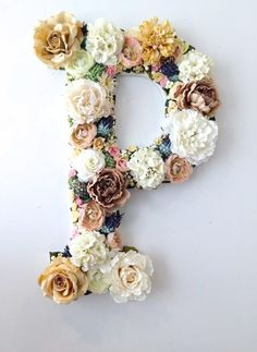 Cool Glue Gun Crafts and DIY Projects - DIY Flower Letter - Creative Ways to Use Your Glue Gun for Awesome Home Decor DIY Gifts Jewelry and Fashion - Fun Projects and Easy Cheap DIY Ideas for Kids Adults and Teens - Handmade Christmas Presents on A Budget