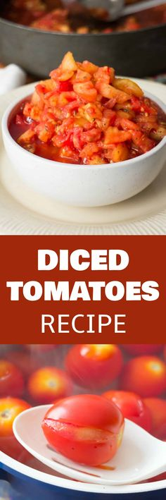 HOW TO MAKE diced tomatoes recipe from fresh tomatoes. Step by step instructions walk you through the beginning all the way up to freezing them. This is a great way to preserve your garden tomatoes! Canning Recipes, Pasta Recipes, Dinner Recipes, Freezer Recipes, Freezer Meals, Recipes With Diced Tomatoes, Freeze Tomatoes, Canning Tomatoes, Stewed Tomatoes