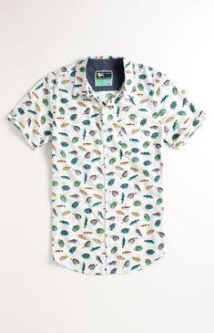 Modern Amusement Fishing Printed Short Sleeve Woven Shirt #pacsun