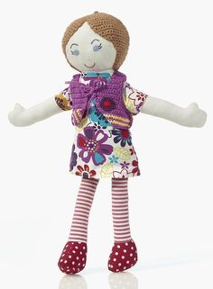 Limited edition 18 inch rag doll from Pebble. Handmade by a women's non-profit in Bangladesh. #ecotoysusa #ragdolls #fairtrade