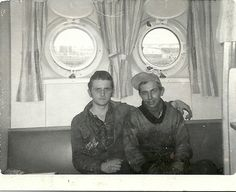Can not remember the name of my ship mate, but we were good friends I'm sitting on right side