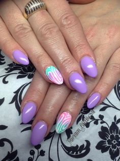 purple nails, sugar effect