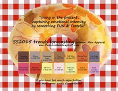 SS2015 trends forecasting for Women, Men Apparel - living in the present, capturing emotional intensity by something Fun & Tasteful www....