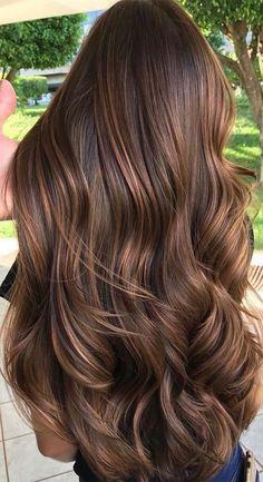 Hot Hair Colors, Hair Color Dark, Cool Hair Color, Dark Hair, Best Brunette Hair Color, Dark Blonde, Brown Hair Balayage, Hair Highlights, Ombre Hair