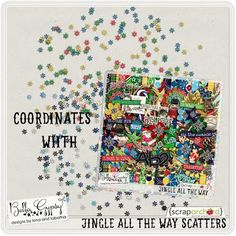 Jingle All The Way Scatters Freebie by @bellagypsygirls