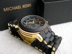 Reloj Michael Kors negro ...Me falta este!!!