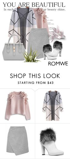 """Romwe 04"" by aida-1999 ❤ liked on Polyvore featuring Chicwish, Stuart Weitzman, women's clothing, women, female, woman, misses and juniors"