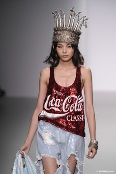 Ashish SS/14 Coca-Cola sequined red tank top