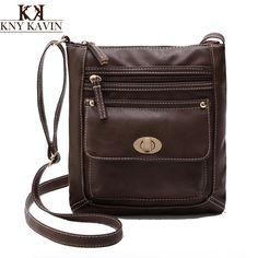 e0ce1d866403 KNY KAVIN Fashion Women Shoulder Bags Famous Brand PU Leather Multi Pockets Messenger  Bag Ladies Crossbody Bags bolsa feminina-in Crossbody Bags from ...