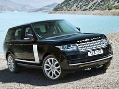 2014 Range Rover (black exterior with black and gray interior)