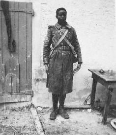 A German soldier took this photograph of a captured French colonial soldier in France during June 1940. The Germans shot several thousand captured black African colonial troops in 1940.