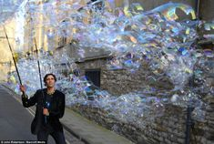 The Bubbleman is set to create the world's first bubble art exhibition tomorrow