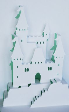 Castle PopUp Card by PeadenScottDesigns on Etsy