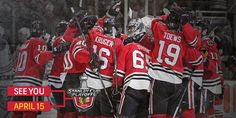 Stanley Cup Playoffs bound. See you when the the chase for the Cup begins April 15, @NHLBlackhawks.