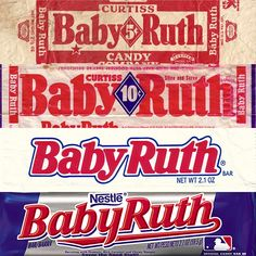 See how your favorite candy bar wrappers evolved over the decades Retro Candy, Vintage Candy, Vintage Labels, Baby Ruth Bars, Candy Tattoo, Old Advertisements, Advertising, Old Candy, Memories