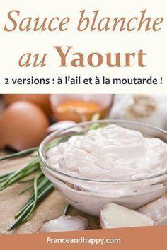 Que ce soit pour tremper les crudités à l'apéro ou pour accompagner du poisson, c'est la sauce blanche au yaourt parfaite !