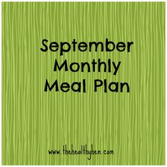 Sept monthly meal plan
