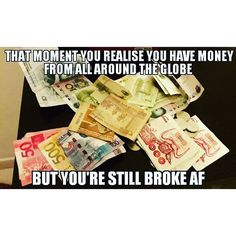 ~~~Crewleaks~~~ Story of our life :D every crew has said it m sure. I have forgotten some of notes where do they come from in my collection but i always say damn i need #money its all about the money money money   ✌ @theflightattendantlife follow for more funny memes of #crewlife #allaboutmoney #funny #cabincrewvines #currency #mycabincrewjourney #flyguy #flyinghigh #dubai #mydubai #thuglife #uae #lifestyle #letsdoit #globaldaily  #crewiser, by crewiser.com