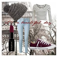 """""""it's a beautiful day"""" by girlthingss on Polyvore featuring Miss Selfridge, Frame Denim, Converse, Dakine, Smashbox, women's clothing, women's fashion, women, female and woman"""