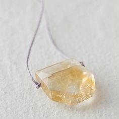 Citrine Shield Necklace