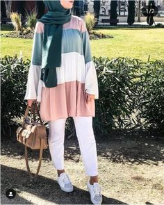 Stylish And Versatile Summer Hijab Outfits Just Trendy Girls & stilvolles und vielseitiges sommer-hijab-outfit für modische mädchen & tenues hijab d'été élégantes et polyvalentes just trendy girls Modern Hijab Fashion, Street Hijab Fashion, Hijab Fashion Inspiration, Muslim Fashion, Modest Fashion, Fashion Outfits, Stylish Outfits, Hijab Fashion Summer, Hijab Street Styles