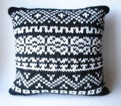 FairIsle Knit Pillow by RachelMullerYarns on Etsy, $59.00