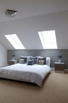 Loft Room, Bedroom Loft, Master Bedroom, Attic Inspiration, Clean Bedroom, Attic Bedrooms, Piece A Vivre, New Room, New Homes