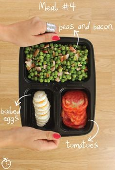 7 Days Of Healthy Meal Prep Ideas - Ready To Eat Meals and Protein On The Go With The Best Meal Containers - bacon peas recipe
