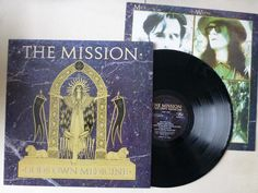 The Mission Gods Own Medicine Vinyl LP with Picture Inner MERH 102 1986