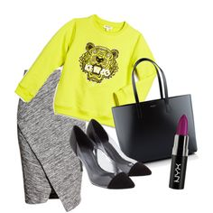 3 by pal0ma on Polyvore featuring polyvore, fashion, style, Kenzo, H&M, Yves Saint Laurent and Sandro